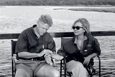 Bill & Hillary during Lewinsky scandal back in Washington - they spent a few days in Africa - Hillary said some days were better than others and this was a day she wanted to never end.  May 1998