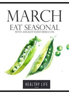 Seasonal Produce Guide for March. Spring will spring on March and that means the gardens will be sprouting and growing and producing more local produce Vegan Nutrition, Nutrition Plans, Nutrition Chart, Nutrition Education, In Season Produce, Fruit In Season, Healthy Life, Healthy Eating, Healthy Food