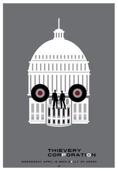 Scrojo Thievery Corporation Poster