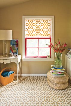 Done in a Day: Stenciled Window Shade