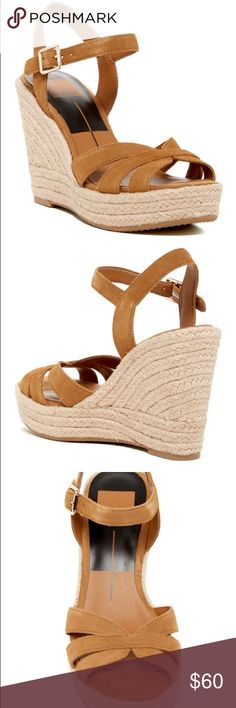 """🆕Dolce Vita Espadrille Wedge Sandal Dolce Vita Tracey Espadrille Wedge Sandal Camel Suede features: Open toe, multi vamp straps, ankle strap with buckle closure, braided jute wrapped Wedge heel and platform- Approx 4.5"""" heel, 1.5"""" platform . Brand new in box with original packaging. Size : 9.5  ( from Nordstrom) Dolce Vita Shoes Espadrilles"""