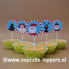 Nice little cupcake topper www.cupcake-toppers.nl