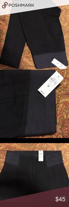 NWT Ann Taylor leggings Very thick and stretchy Ann Taylor leggings. Wide waistband and flattering details. These are thick enough to wear to work as suit pants without the casual legging look. Ann Taylor Pants Leggings