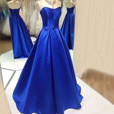 2017 Custom Made Royal Blue Prom Dress,Sexy Sweetheart Prom Dresses,Floor Length Prom Dress,Backless Prom Dress