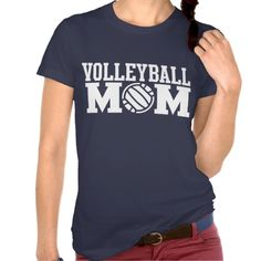 Volleyball Mom Dark Colors Tees #Personalized #tshirt