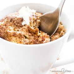 2-Minute Cinnamon Swirl Mug Muffin - This quick paleo, low carb, and nut-free cinnamon swirl mug muffin is light, moist, fluffy, and ready in just two minutes.