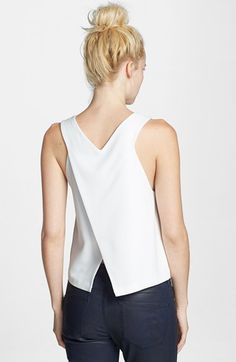 Topshop Cutaway Wrap Back Shell (Nordstrom Exclusive)