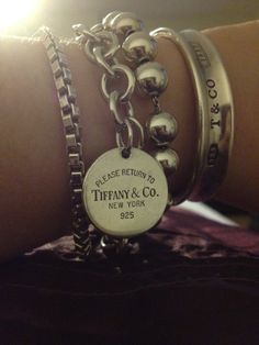 Tiffany 1837 cuff, 80, venetian bracelet, 13, cable link, 35.