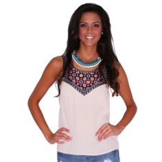 Fool's Gold Tank | Impressions  Grab lunch with the gals in this funky little tank! #shopimpressions