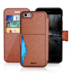 iPhone 6/6S Plus Leather Wallet Case with Cards Slot and Metal Magnetic, Slim Fit and Heavy Duty, TAKEN Plastic Flip Case / Cover with Rubber Edge, for Women, Men, Boys, Girls, 5.5 Inch
