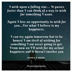 I wish upon a falling star... Nicole Mann -Powerinspiration- Canva created