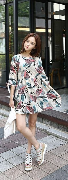 Stylish Ways to Wear Dresses From Korean Fashion Style Mom Outfits, Girly Outfits, Casual Outfits, Pop Fashion, Girl Fashion, Fashion Outfits, Korean Fashion Trends, Asian Fashion, Korean Dress