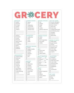 Our Grocery List Pad is the perfect tool to streamline your grocery store shopping! Our pad breaks out common groceries by section of the store so you can avoid