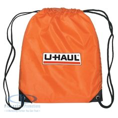 """Promotional Cinch Pack - 14 in x 18 in [product review] """"This product looked great with our logo on it!  The students as well as the faculty enjoyed this bag!"""" - Cristi"""
