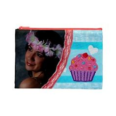 Large Two Sided Cosmetic Bag by Ivelyn Insert your own photos.