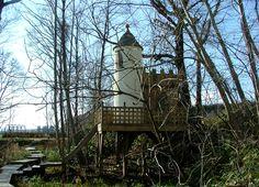 Fairy Castle Tree House By Richard Foxcroft Fairy Tree Houses, Sunny Days, Hammock, Castle, Architecture, House Styles, Garden, Japan, Outdoor