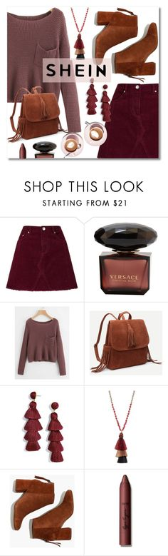 """SHEIN Pocket Front Jumper"" by branqa on Polyvore featuring Miss Selfridge, BaubleBar, Panacea, Madewell and tarte"