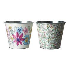 Forsommar assorted design plant pots £1.29
