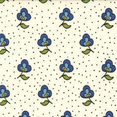 American Jane - Savonnerie Flower Dot Ivory Blue
