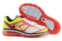 Sale Discount Nike Air Max 2012 White Red Yellow Mens Your Best Choice