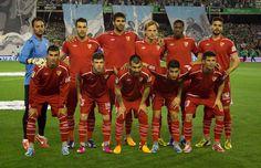Once titular del Sevilla FC.