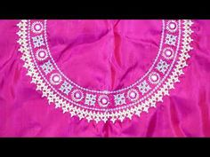 Computer work blouse ~~~~~~~~~~~~~~~~~~~~~~~~~~ Please watch my another videos baby jubb. Hand Embroidery Design Patterns, Hand Embroidery Dress, Hand Embroidery Videos, Embroidery On Clothes, Machine Embroidery Designs, Neckline Designs, Dress Neck Designs, Blouse Designs, Kutch Work Saree