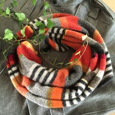 Orange stribes,  Design Hanne Rimmen, Knitting