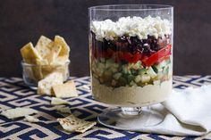 Greek 5-Layer Dip (PLEASE Refer to your individual meal plan that you received at the start of the challenge. If these ingredients aren't approved for the challenge this will be great to make after the 30 days)