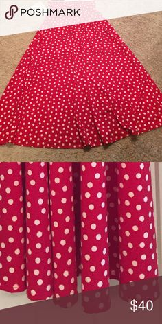 542761dad864eb NWT LulaRoe Maxi Red and white Disney dots LulaRoe Maxi. Purchased this  from a consultant