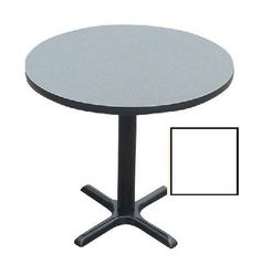 Correll Bxt48R-36 Cafe and Breakroom Tables - Round - White by CORRELL. $366.00. 1.25 Inch High pressure top with backer sheet and black t-moldCast iron base and top spider3 inch D steel column in tableNylon leveling glidesBlack textured finish on all metal partsDimensions: 29 H x 48 diaSee inset for table top color. Save 23% Off!