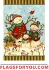 Snowfamily and Pup House Flag