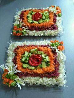 Salada decorada