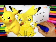 Easy Pikachu Coloring Page - Free Printable Coloring Pages for kids and Preschoolers - YouTube