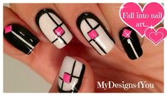 Nail Art, Monochrome, Geometric| Mix 'n' Match Nails ♥ Геометрический Ди...