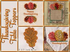 Thanksgiving Table Toppers Machine Embroidery Designs