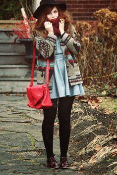 The coat looks so cozy.