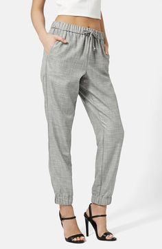Topshop Piped Drawstring Joggers available at #Nordstrom