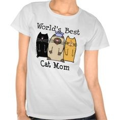 World's Best Cat Mom Tees