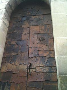Armoured Door, Medieval Tower, Lausanne - Switzerland И топ не може да разбие...Кръпките...