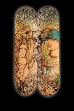 Custom skateboard design by www.deckorskate.com