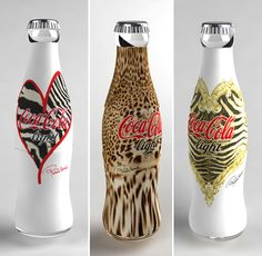 Animal print designs from the Cavalli Coca-Cola Light project.