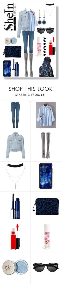 """Sheln Denim Style - Blue Mysticism"" by queenmadhatteres ❤ liked on Polyvore featuring River Island, J Brand, Zimmermann, Charlotte Russe, Casetify, Clinique, Inge Christopher, MAC Cosmetics, Blossom and Nine West"