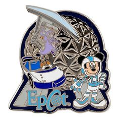 Disney Pin- Epcot Attractions Mickey Mouse and Friends