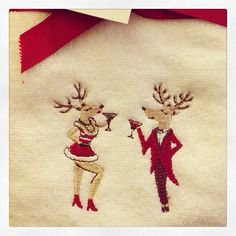 Love these reindeer towels!