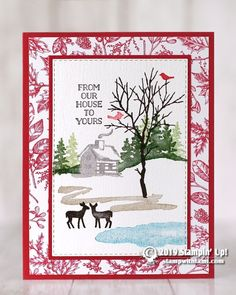 SNOW FRONT HOLIDAY CARDS Today we're going to be making this gorgeous card from the Stampin Up Snow Front stamp set. This card is quick and easy to make. Stampin Up Christmas, Handmade Christmas, Diy Christmas, Stamped Christmas Cards, Scandinavian Christmas, Christmas Projects, Xmas Cards, Holiday Cards, Stampin Up Weihnachten