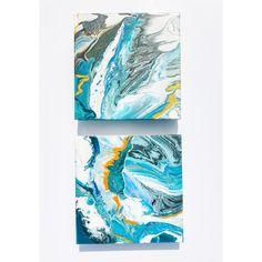 A S E A O F B L U E S - Fluid acrylic art painting on canvas #Etsy #Fluidart #homeinterior #acrylicpainting Fluid Acrylics, Rainbow Art, Acrylic Art, Painting Techniques, Modern Art, Abstract Art, Original Art, Canvas, Artwork