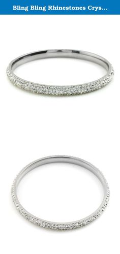 Bling Bling Rhinestones Crystal Stainless Steel Eternity Bangle Bracelet, 65mm Inner Diameter, Handmade Pave Fireball (001. White). Rhinestones, Stainless steel material, Hypoallergenic About JewelrieShop Store JewelrieShop has been on Amazon for several years, focus on all kinds of fashion earrings, bracelets, necklaces, Piercing. Most of our products are with stainless steel material, we will test for some days before we release the new products, we care about the quality when you…