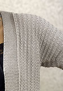 Allegra Jacket by Margret Willson ~ FREE download of this sideways knit, DK 8ply, Bust 36 (40, 44, 48, 52)""