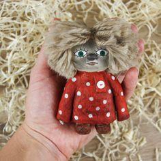 Купить Домовенок Кузя. Ватная елочная игрушка ручной работы в интернет магазине на Ярмарке Мастеров