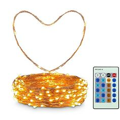 Copper String Lights by ToogeThree Copper Twist Low Power AdapterUL and Amazon Quality GuranteeWarm White 66FT with Controller ** Learn more by visiting the image link. This is Amazon affiliate link. #DIY
